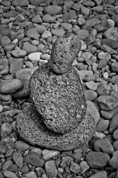 Photograph - Stone Cairn I by Dave Gordon