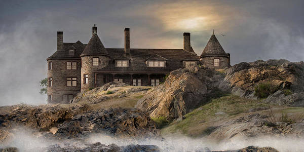 Photograph - Stone Castle Newport by Robin-Lee Vieira