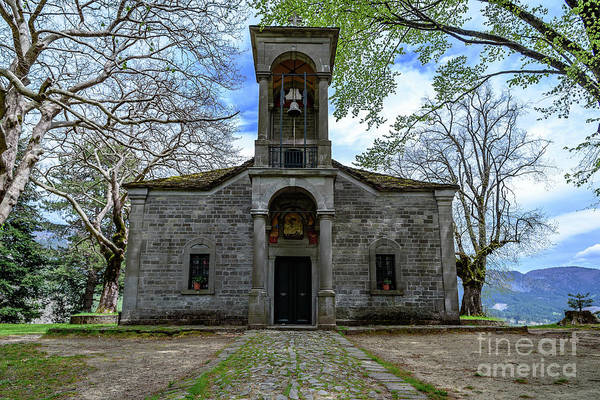 Photograph - Stone Church In Metsovo, Greece by Global Light Photography - Nicole Leffer