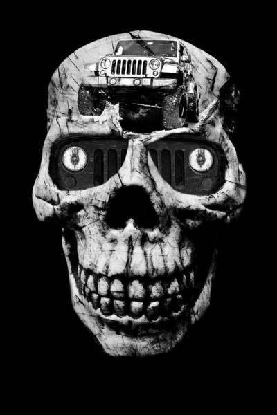 Wall Art - Photograph - Stone Cold Jeeper Cyborg Jku Wrangler No Red Eyes by Luke Moore