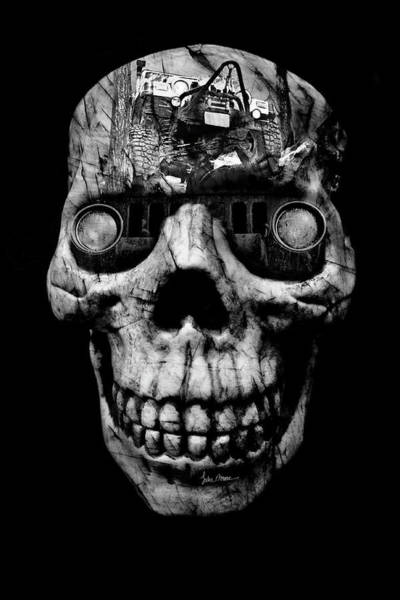 Photograph - Stone Cold Jeeper Cyborg Tj Wrangler No Red Eyes by Luke Moore
