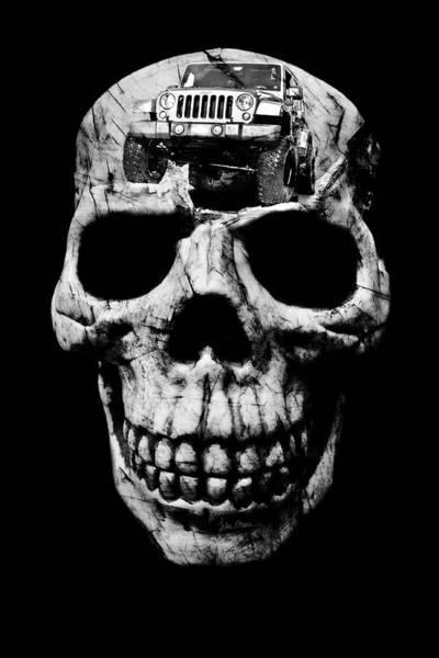 Wall Art - Photograph - Stone Cold Jeeper Skull Jku Wrangler by Luke Moore