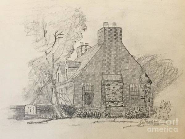 Drawing - Stone Cottage by Thomas Janos