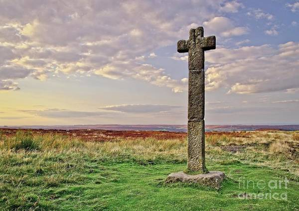 Photograph - Stone Cross On North York Moors by Martyn Arnold