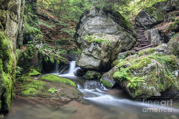 Wall Art - Photograph - Stone Guardian Of The Waterfalls - Bizarre Boulder On The Bank by Michal Boubin