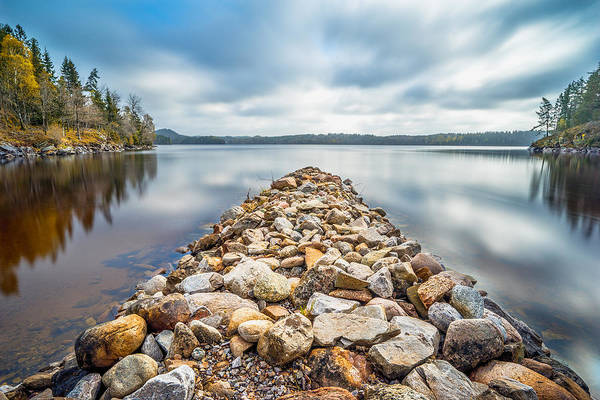 Photograph - Stone Jetty by James Billings