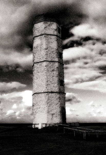 Photograph - Stone Lighthouse by Cliff Norton