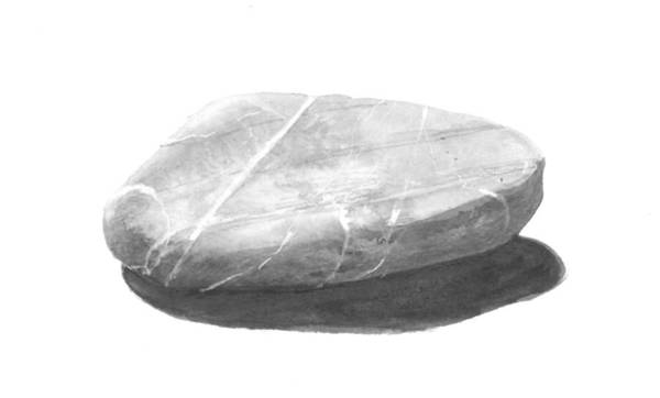 Pebble Painting - Stone by Lincoln Seligman
