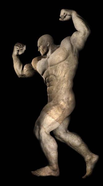 Sportsman Digital Art - Studio Male Model Render 25 by Carlos Diaz