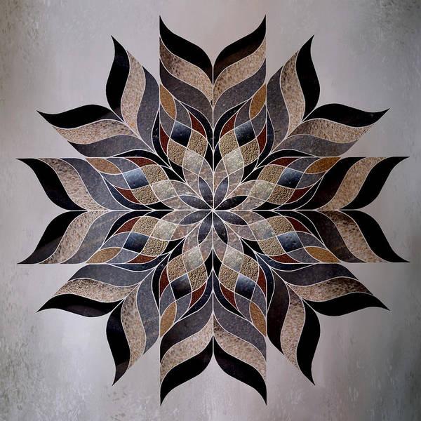 Abstraction Digital Art - Stone Mandala by Terry Davis