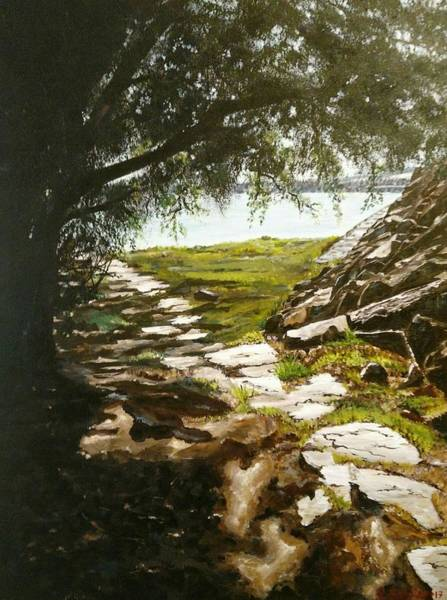 Painting - Stone Path To The Ocean by Ray Khalife