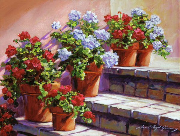 Wall Art - Painting - Stone Patio Steps by David Lloyd Glover