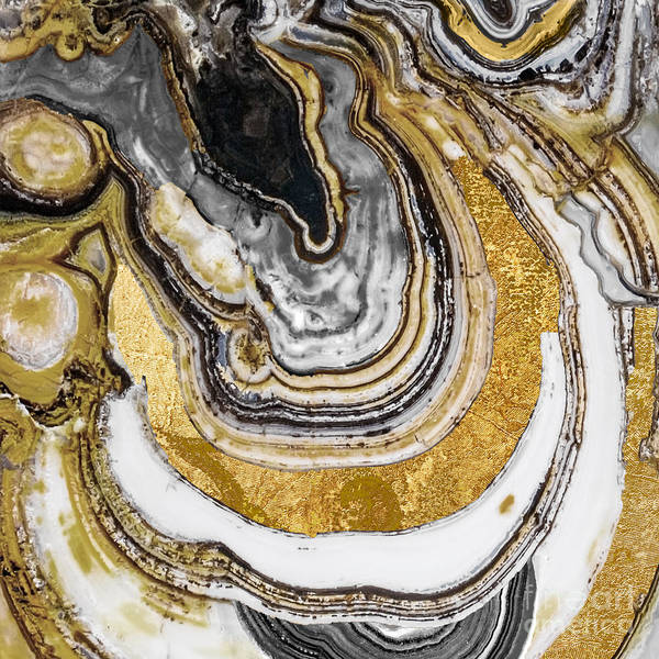 Gold Painting - Stone Prose by Mindy Sommers