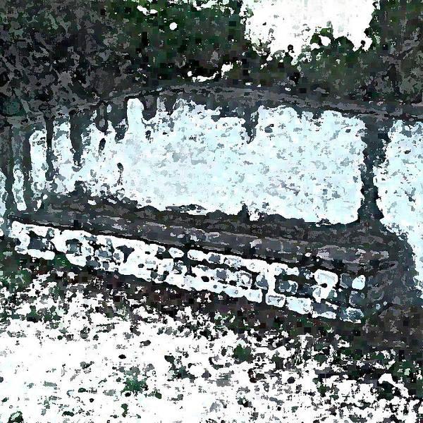 Park Bench Digital Art - Stone Seat In Romantic Style Garden by Jon Fennel