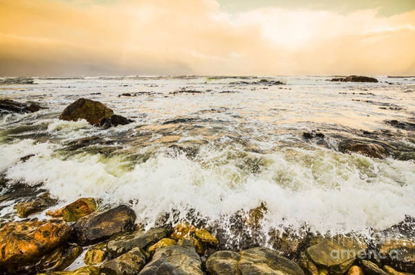 Trial Harbour Wall Art - Photograph - Stone Shore Ocean Seascape  by Jorgo Photography - Wall Art Gallery