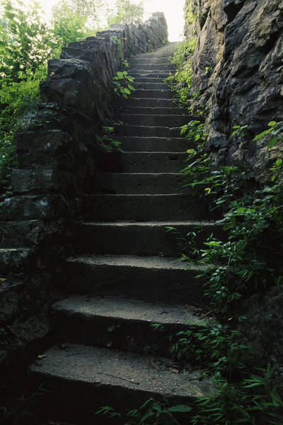 Wall Art - Photograph - Stone Stairs Lead To The Top Of Morgans by Stephen Alvarez
