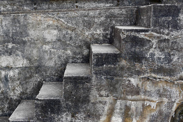 Cement Wall Art - Mixed Media - Stone Steps by Carol Leigh