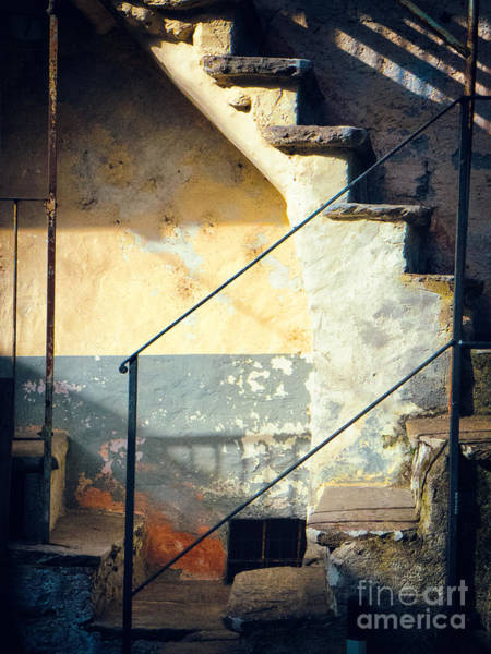 Wall Art - Photograph - Stone Steps Outside An Old House by Silvia Ganora