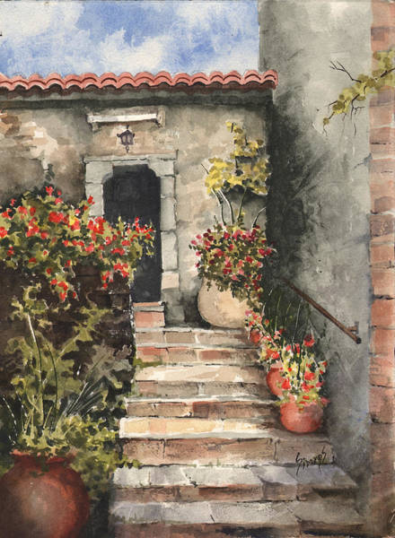 Painting - Stone Steps by Sam Sidders