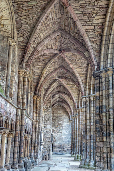 Abbey Photograph - Stone Vaulted Nave Of Holyrood Abbey by W Chris Fooshee