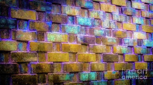 Brick Wall In Abstract 499 Art Print