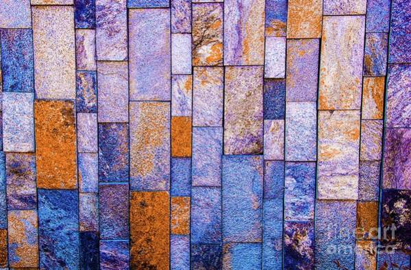 Stone Wall In Abstract 543 Art Print