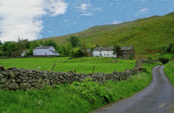 Painting - Stone Wall Lake District - P4a16012 by Dean Wittle