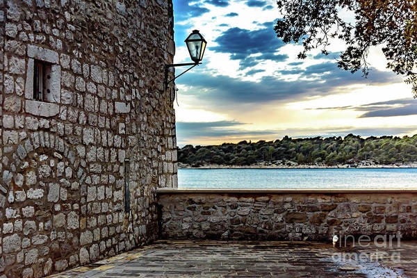 Photograph - Stone Wall On The Adriatic, Rab Island, Croatia by Global Light Photography - Nicole Leffer