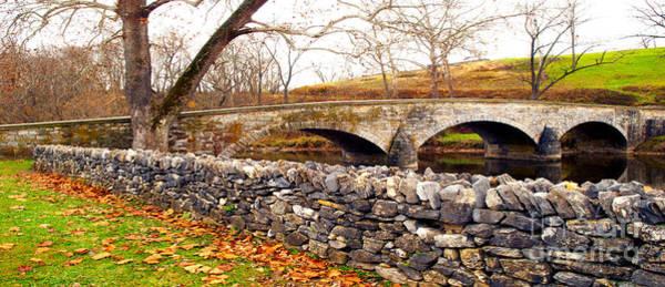 Burnside Bridge Photograph - Stone Wall - Stone Bridge by Paul W Faust - Impressions of Light