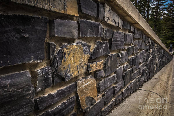 Stone Wall With Perspective Art Print