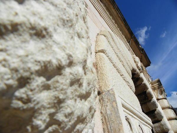Ancient Photograph - Stone Walls IIi by Vineta Marinovic