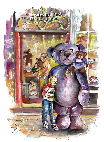 Painting - Stonegates Teddy Bear Shop In York by Miki De Goodaboom