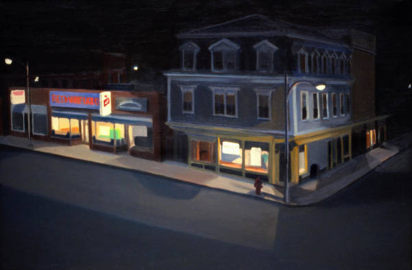 Painting - Stoneham Square In 1979 by Nancy Griswold