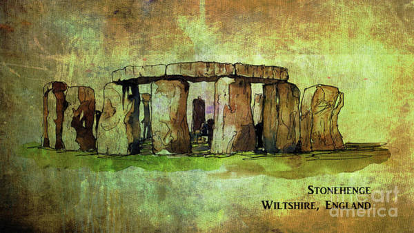 Digital Art - Stonehenge 2016 by Kathryn Strick