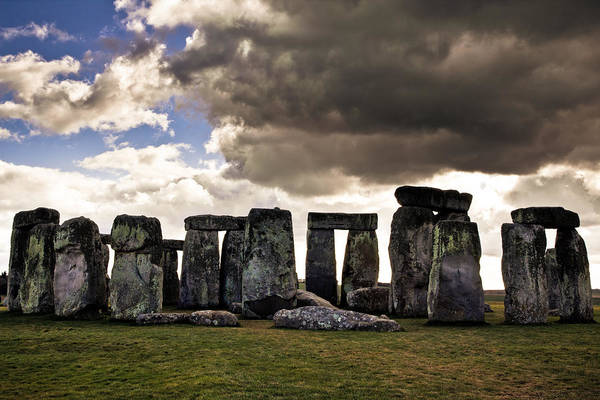 Rock Photograph - Stonehenge After The Storm by Justin Albrecht