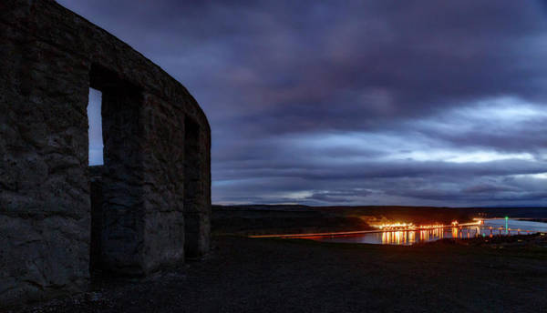 Nightscape Photograph - Stonehenge And The Columbia by Cat Connor