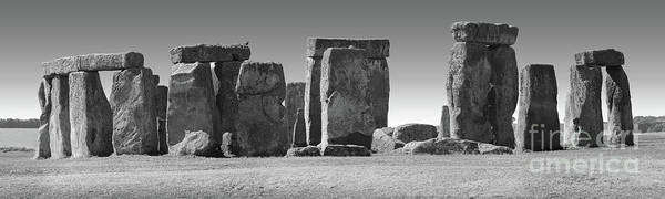 Photograph - Stonehenge Prehistoric Monument In Black And White by Gregory Dyer