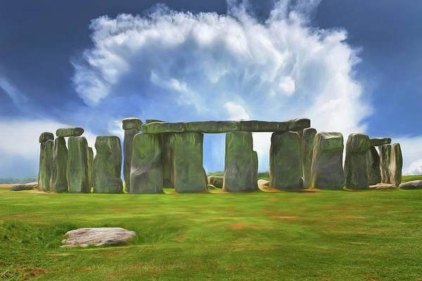 Granite Digital Art - Stonehenge  by Roy Pedersen
