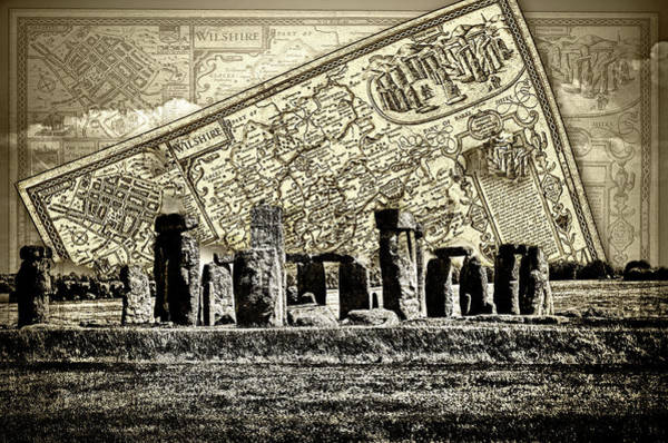 Photograph - Stonehenge Travel Map by Sharon Popek