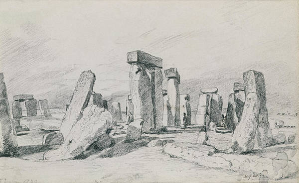 Druid Wall Art - Drawing - Stonehenge Wiltshire by John Constable