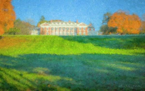 Painting - Stonehill College In October by Bill McEntee