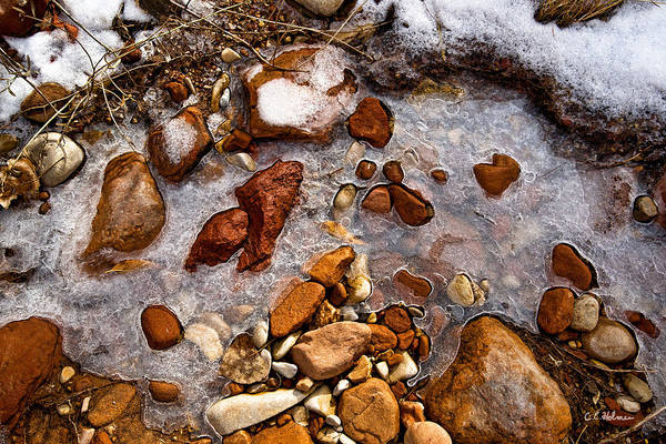 Photograph - Stones And Ice by Christopher Holmes