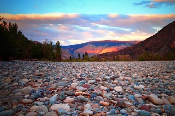 Photograph - Stones And Painted Mountains by Tara Turner