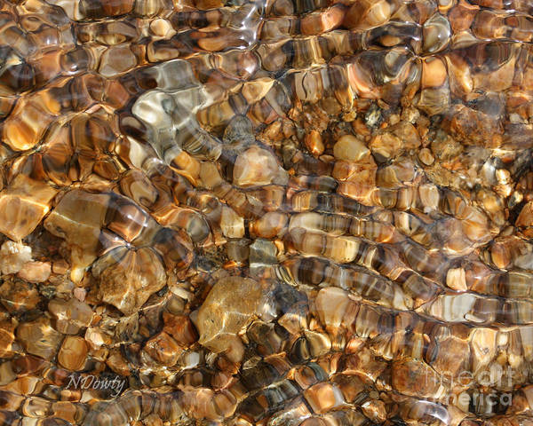 Photograph - Stones Through Ripples by Natalie Dowty