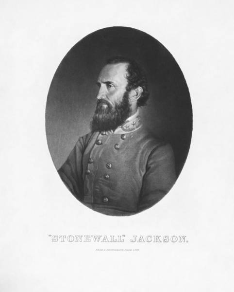 Wall Art - Mixed Media - Stonewall Jackson - Confederate Army General by War Is Hell Store