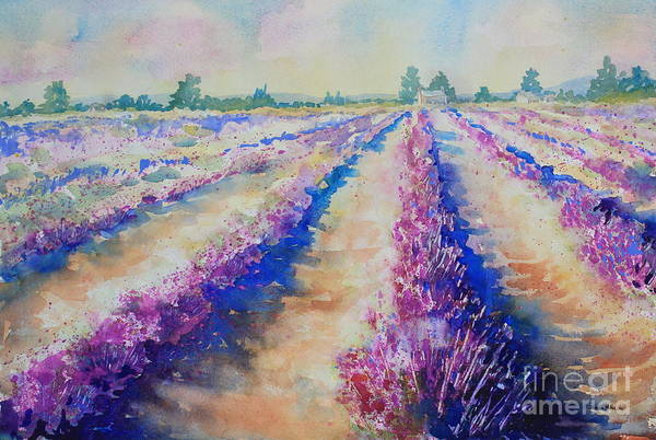 Central Texas Painting - Stonewall Lavender IIi by Marsha Reeves
