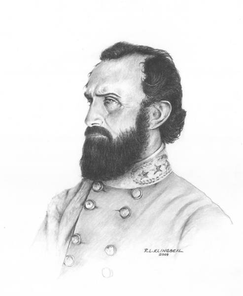 Confederate Soldier Drawing - Stonewall by Richard Klingbeil