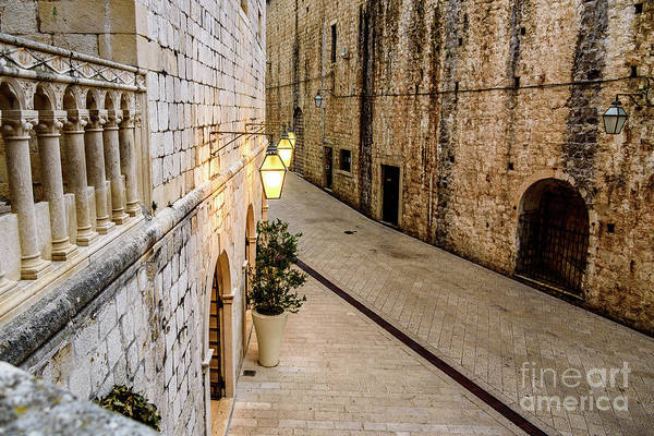 Photograph - Stonework And Lines Of St Dominika Street, Game Of Thrones Kings Landing, Dubrovnik, Croatia by Global Light Photography - Nicole Leffer