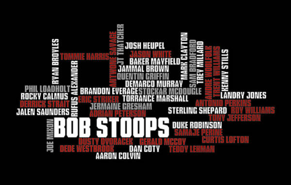 Wall Art - Digital Art - Stoops Greatest Sooners by Ricky Barnard