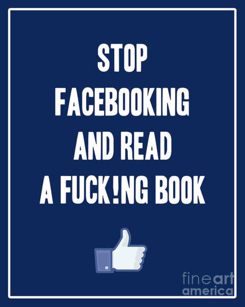 Reader Digital Art - Stop Facebooking And Read A Book by L Bee